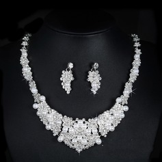 Beautiful Alloy Rhinestones With Rhinestone Ladies' Jewelry Sets