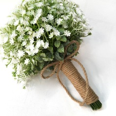 Pretty Linen Rope Bridal Bouquets -