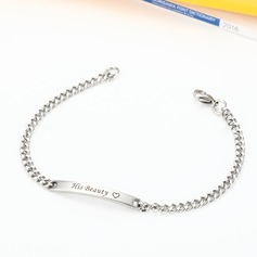 Personalized Ladies' Unique Stainless Steel Engraved Bracelets Bracelets For Bridesmaid/For Friends/For Couple