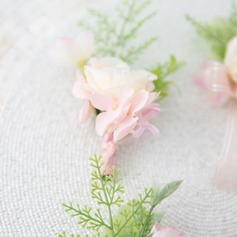 Special Free-Form Satin Boutonniere -