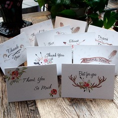 Floral Style Side Fold Thank You Cards