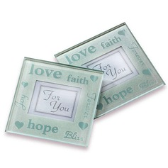 Good Wishes Pearlized Photo Coasters