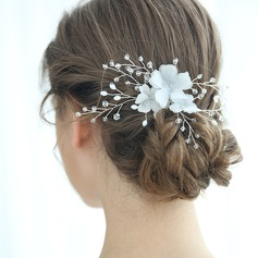 Ladies Glamourous Crystal/Voile Hairpins Crystal (Sold in single piece)