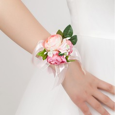 Delicate Free-Form Satin Wrist Corsage -