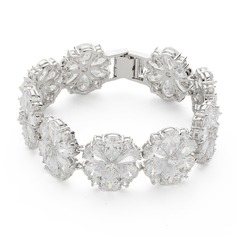 Flower Shaped Zircon Ladies' Bracelets