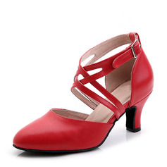 Women's Real Leather Heels Ballroom Dance Shoes (274216681)