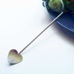 """Tea Time""/Classic/Lovely Heart Shaped Stainless Steel Tea Party Favors/Stirrers"