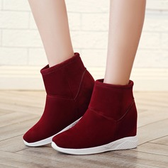 Women's Suede Flat Heel Boots Ankle Boots Mid-Calf Boots shoes