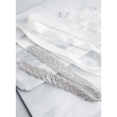 Gorgeous/Exquisite Satin Sash With Beading/Rhinestones