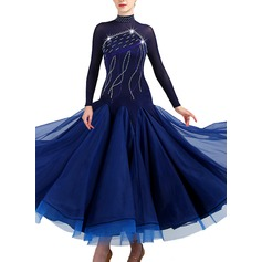 Women's Dancewear Spandex Organza Modern Dance Performance Dresses (115175496)