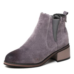 b9935d0f380 Women s Suede Chunky Heel Pumps Closed Toe Boots Ankle Boots With Elastic  Band shoes 65 New · More Color Options »