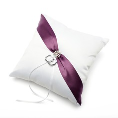 Ring Pillow in Satin With Ribbons/Sash
