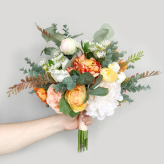 Simple And Elegant Hand-tied Silk Flower Bridal Bouquets (Sold in a single piece) -