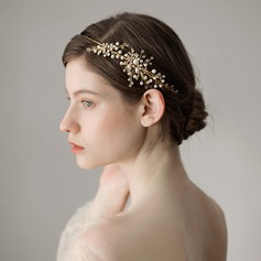 Ladies Glamourous Imitation Pearls Headbands With Venetian Pearl (Sold in single piece)