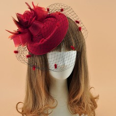 Dames Elegant Batist met Feather Fascinators/Theepartij hoeden