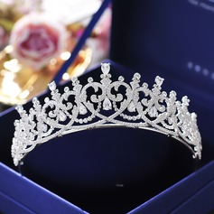 Ladies Beautiful Zircon Tiaras With Cubic Zirconia (Sold in single piece) (042142126)