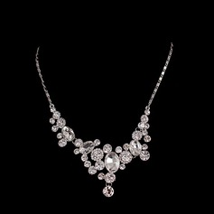 Elegant Zinc Alloy With Rhinestone/Crystal Ladies' Necklaces
