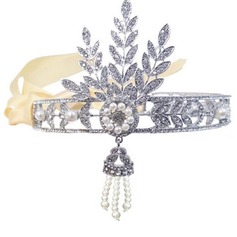 Gorgeous Rhinestone/Alloy/Satin Headbands With Rhinestone/Venetian Pearl (Sold in single piece)