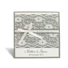 Personalized Modern Style Top Fold Invitation Cards