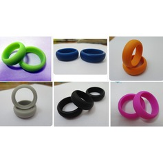 Modern Silikon Fashionable Resin Fashion Rings Gåvor