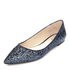 Women's Sparkling Glitter Flat Heel Flats Closed Toe shoes (086152984)