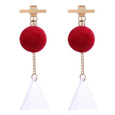 Unique Copper Cloth Women's Fashion Earrings (Set of 2)