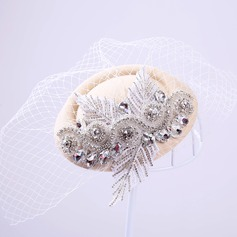 Elegant Rhinestone/Tulle Fascinators