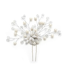 Ladies Elegant Imitation Pearls Hairpins With Venetian Pearl (Sold in single piece)