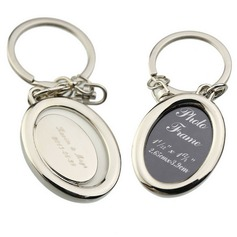 Personalized Oval Zinc Alloy Keychains/Photo Frame  (118031955)