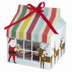 Santa Claus Cupcake Boxes With Ribbons