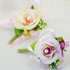 Satin/Cotton/Ribbon Boutonniere (Sold in a single piece) -
