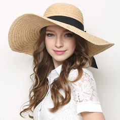 Ladies' Simple/Fancy Raffia With Bowknot Straw Hats/Beach/Sun Hats
