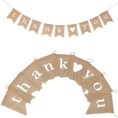 """Thank you"" Hemp Rope/Linen Banner"