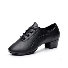 Men's Real Leather Sneakers Practice Dance Shoes