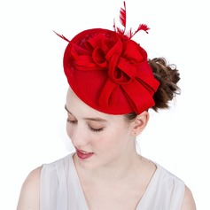 Ladies' Exquisite/Eye-catching/Romantic Cambric With Feather Fascinators