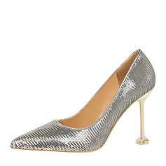 Women's Leatherette Stiletto Heel Pumps Closed Toe With Others shoes