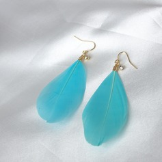 Chic Alloy With Feather Ladies' Fashion Earrings