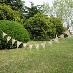 """Just Married""/Triangle Burlap Photo Booth Props/Banner"