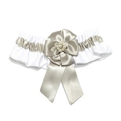 Classic Satin With Pearl Wedding Garters