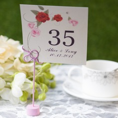 Personalized Lovely Rose Card Paper Table Number Cards