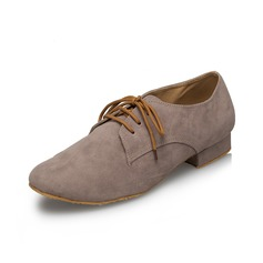Men's Suede Flats Latin Ballroom Practice Character Shoes Dance Shoes