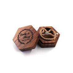 Chic/Floral Design/Vintage Style/Personalized Wood Ring Box