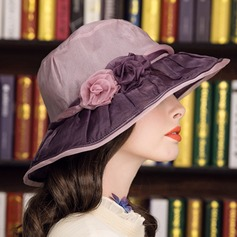 Ladies' Gorgeous Silk With Silk Flower Floppy Hat