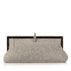 Shining Metal With Rhinestone Clutches