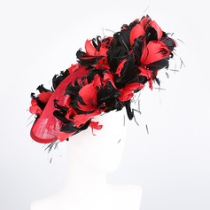 Ladies' Artistic/baroque Cambric With Silk Flower Fascinators/Kentucky Derby Hats