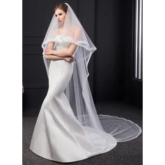 Two-tier Ribbon Edge Chapel Bridal Veils