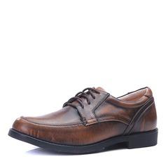 Herren Microfaser Leder Zuschnüren U-Spitze Abendschuhe Herren-Oxford-Schuhe