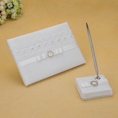 Beautiful Rhinestones/Bow/Sash Guestbook & Pen Set