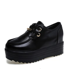 Women's Leatherette Platform Wedges With Lace-up shoes