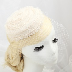 Eye-catching Imitation Pearls/Lace Fascinators